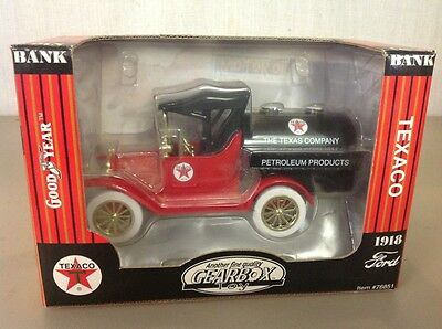 New In Box!! Gearbox Texaco Petroleum Products 1918 Ford Model T Runabout bank