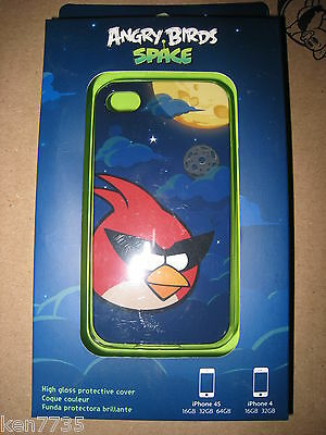 NIP ANGRY BIRDS SPACE RED BIRD iPHONE 4 4S COVER FREE SHIPPING I SHIP EVERYDAY