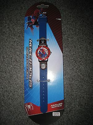 Nip Boys The Amazing Spiderman Blue Analog Watch Free Shipping
