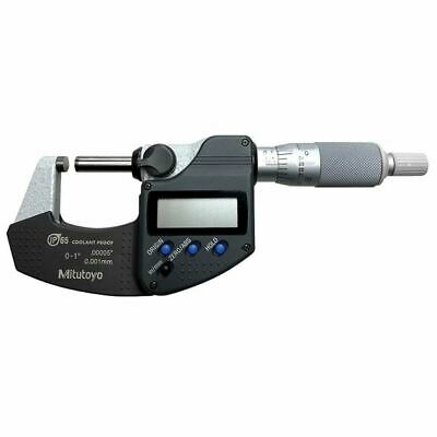 "MITUTOYO 293-344-30 0-1"" IP65 Electronic Coolant Proof Micrometer"