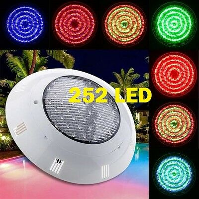 New 252 Led Swimming Pool Strong Light Rgb  With 7 Colour  Remote Control