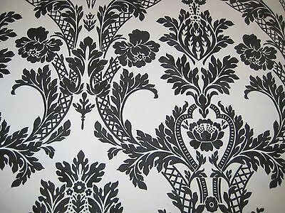 High quality black Wall Paper Wallpaper Roll Damask Victorian Embossed Textured