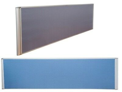 1800Wx500H Flat Top Desk Divider Screen w/ Clamps Blue / Grey DMSF1805 Melbourne