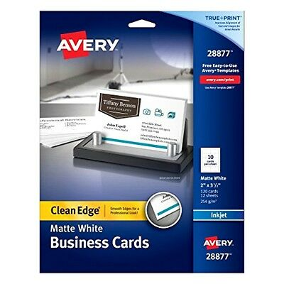 Avery Two-Side Printable Clean Edge Business Cards for Inkjet Printers White New