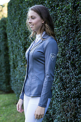 Wilson Equestrian Horse Riding Show Jacket Grey Ladies size 6 8 10 12 14 16