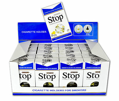 New Improved Super Stop 8-hole Cigarette Holder 20 pack 600 Filters CUT THE TAR