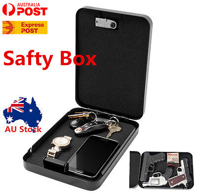Portable Security Safe Box Password  Cash/Jewelry Storage Case for Home Office