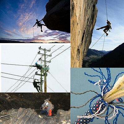 10M 5KN Safety Rock Climbing Rappelling Rope Mountaineering Escape Rescue Rope