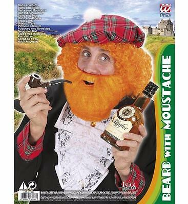 ** Ginger Beard With Moustache Character Adult Fancy Dress New ** Mens