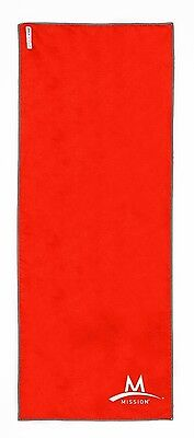 "Mission Athletecare Enduracool Instant Cooling Towel - RED Small  6"" x 33"""