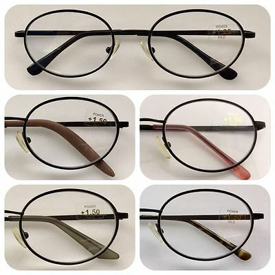 A4 Super Value Black Metal Frame Classic Style Reading Glasses/Spring Hinges