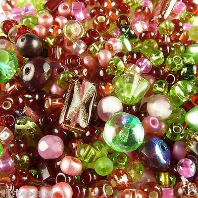 Faraway Fusion Bead Mix : Strawberry Fields contains approx 250 beads