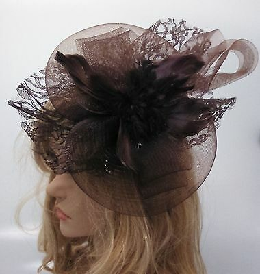 Ladies Girls BIG Large Fascinator Hair Wedding Party