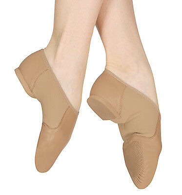 New Childrens/girls /ladies Bloch Jazz Shoes Black/tan All Size