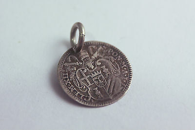 Clement XIII 1758-1769 Vatican Papal silver coin Grosso engraved love token R P