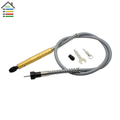 1pc Universal Aluminum Flexible Flex Shaft w/M8 Keyless Chuck for Rotary Grinder
