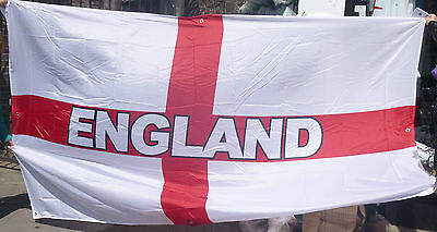 England  Super Giant Flag 10ft x 6ft Excellent Quality 8 Eyelets NEW