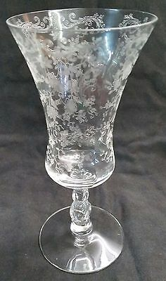 Cambridge Footed Iced Tea Etched Glass 7 5/8'' Chantilly Pattern # 3625 1 of 7