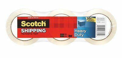 Scotch Heavy Duty Shipping Packaging Tape, 1.88 Inches x 54.6 Yards, 3 Rolls
