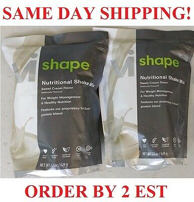 2 x ViSalus Body By Vi Shape Weight Loss Diet Shake Mix SAME DAY SHIPPING 5/18+