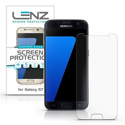 Lenz Tempered Ballistic Glass Screen Protector for Samsung Galaxy S7 [1-Pack]