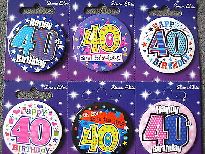 40th Birthday Badge