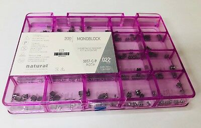 10 Cases Brackets (10 Patients) Monoblock Roth 0.22 Hook 3,4,5  Natural Ortho