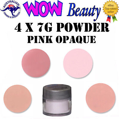 NSI Attraction Pink Opaque Powder Acrylic Nails 4 x 7g + Free Gift
