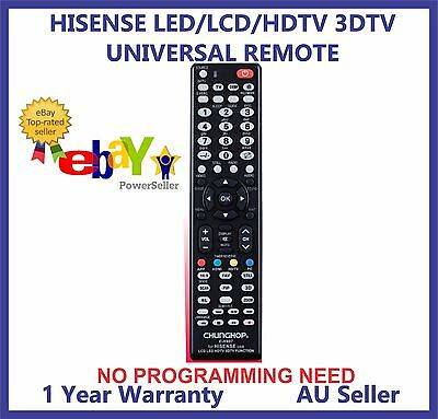 HISENSE REMOTE CONTROL FOR LED/LCD/HDTV/3DTV Ideal Replacement