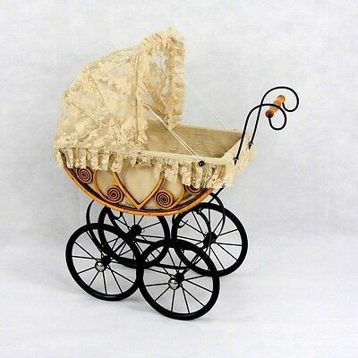 Children's Pretend Play Eleanor Dolls Carriage Pillow & Mattress Included