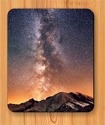 SPACE MILKY WAY GALAXY MOUNTAIN MOUSE PAD -rd34