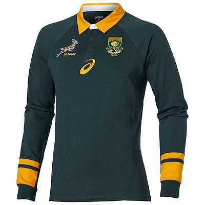 New 2016 South Africa Springboks Rugby Jersey Shirt Official Asics Home Long