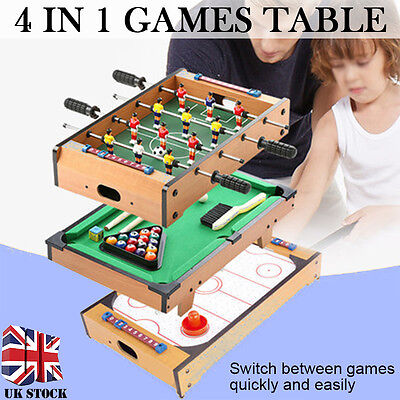 4 in 1 Multi Game Table Pool/Snooker/Football/Air Hockey&Table Tennis Table