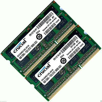 8GB 2x4GB  Memory Ram Upgrade for Dell XPS 15 (L501X)