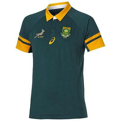 New 2016 South Africa Springboks Rugby Jersey Shirt Collared Official Asics