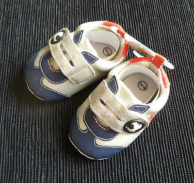Baby clothes BOY 12-18m NEW! Just Too Cute football boots/shoes dark blue/silver