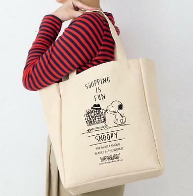 Cute Women Girl Snoopy Peanuts Fiberflax  Food Fruit Shopping Bag Handbag Gift