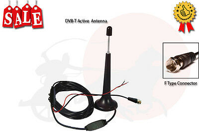In Car DVB-T Magnetic Base Active Antenna (Aerial) VHF / UHF F Type Connector