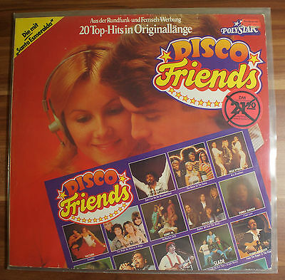 "12"" LP Vinyl Disco Friends 20 Top-Hits Polystar phonogram TOP ZUSTAND!"