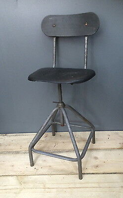 Vintage Industrial Factory Machinist Draftsman Chair