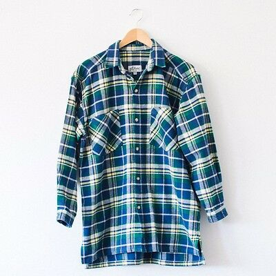 True Vintage Flannel Plaid Checked Cotton Grunge Indie Shirt Kids 13 14 Years