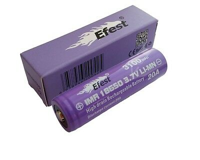 Efest Purple IMR 18650 3100mAh 3,7V Li-Ionen (Button Top) ungeschützt