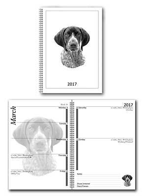 German Shorthaired Pointer Small 2017 Dog Show Diary with Show Dates