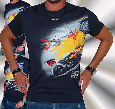 +Neu&org+Red Bull Racing+Infiniti F1 Team+T-Shirt+Hemd+Formel 1+Fan+Rückenprint+