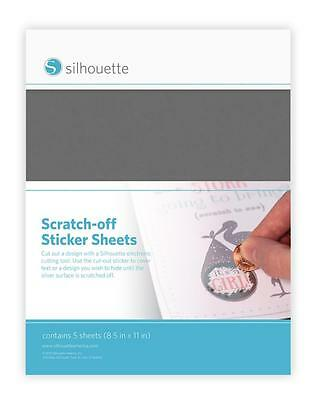 Silhouette SILVER SCRATCH-OFF STICKER SHEETS for Inkjet Printers