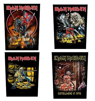 # IRON MAIDEN - OFFICIAL GIANT SEW-ON BACKPATCH  patch number of the beast logo