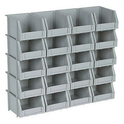 Small Plastic Parts Bin Storage Rack Stackable Wall Mount