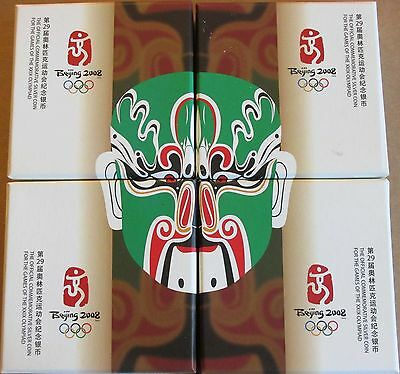 China 2008 Series 2 Olympic 99.9% Silver 4 Coin Proof Set (S10Y)