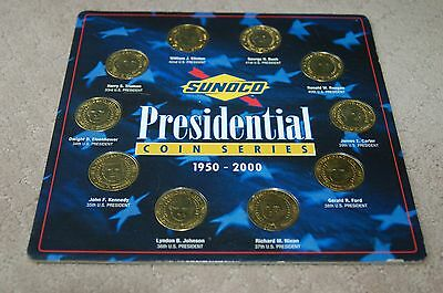 Sunoco Collectible Presidential Coin Series 1950 - 2000 Free Shipping