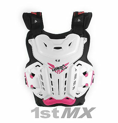Leatt 4.5 Chest Protector Armour Jacki Womens MX Motocross White/Pink Adult